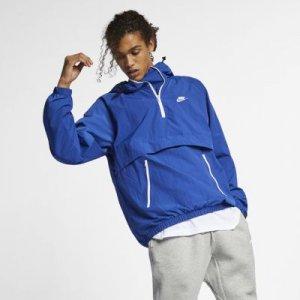 Анорак из тканого материала с капюшоном Sportswear Nike. Цвет: синий