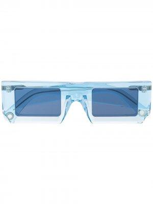 Солнцезащитные очки Soleil в прямоугольной оправе Jacquemus. Цвет: синий