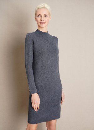 Вязаное платье O`Stin. Цвет: графитовый