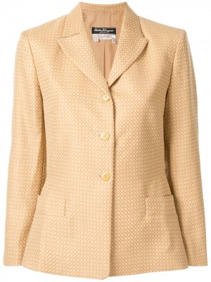 Пиджак на пуговицах Salvatore Ferragamo Pre-Owned. Цвет: коричневый