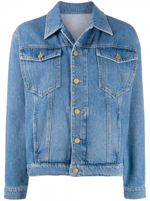 Джинсовая куртка с вышитым логотипом Chiara Ferragni. Цвет: синий