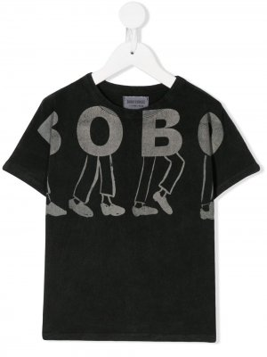 Logo print T-shirt Bobo Choses. Цвет: серый
