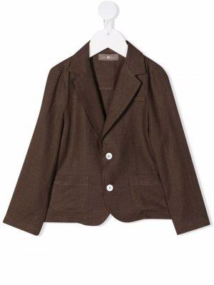 Однобортный пиджак Little Bear. Цвет: коричневый