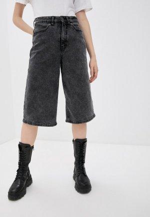 Шорты джинсовые Ichi. Цвет: серый