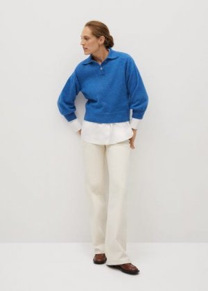 Джемпер в стиле поло - Dani-i Mango. Цвет: синий