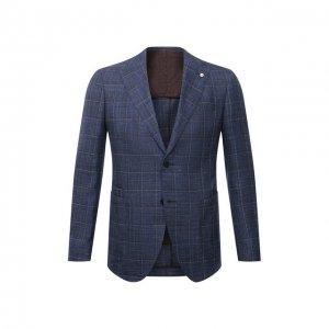 Пиджак из шерсти и шелка L.B.M. 1911. Цвет: синий