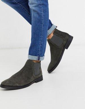 Серые замшевые ботинки челси -Серый River Island