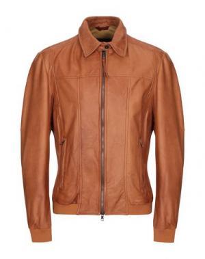 Куртка COMPAGNIA DELLE PELLI. Цвет: верблюжий