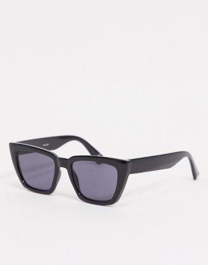 Черные солнцезащитные очки «кошачий глаз» с большой оправой и дымчатыми стеклами -Черный ASOS DESIGN
