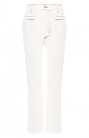 Укороченные джинсы Loewe. Цвет: белый