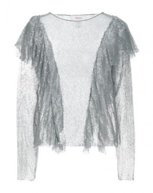 Блузка JUCCA. Цвет: серый