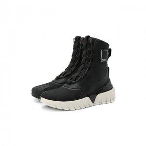 Комбинированные ботинки B-Army Balmain. Цвет: чёрный