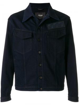 Джинсовая куртка с логотипом Fendi. Цвет: синий