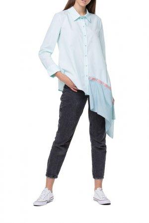 Блуза Adzhedo. Цвет: светло-бирюзовый