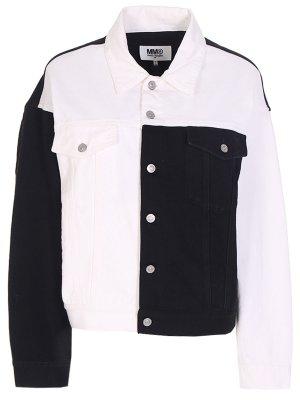 Куртка джинсовая MM6. Цвет: разноцветный