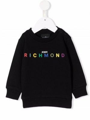 Rainbow logo sweatshirt John Richmond Junior. Цвет: черный