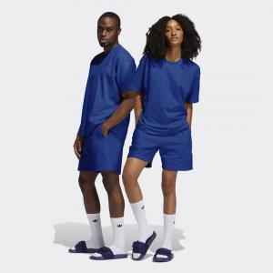 Шорты Pharrell Williams Basics (Унисекс) Originals adidas. Цвет: синий