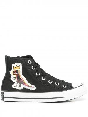 Кеды Chuck Taylor All Star из коллаборации с Jean-Michel Basquiat Converse. Цвет: черный