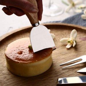 4шт набор ножей для сыра SHEIN. Цвет: серебряные