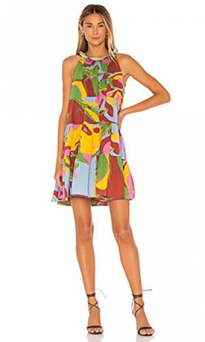 Платье billy Rhode. Цвет: red,green,yellow,blue