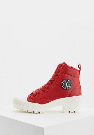 Ботильоны DKNY. Цвет: красный