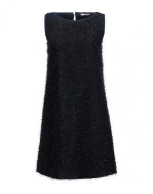 Короткое платье I BLUES. Цвет: темно-синий