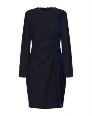 Платье до колена ELIE TAHARI. Цвет: темно-синий