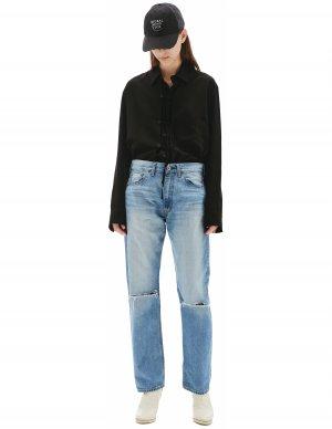 Прямые джинсы с рваными коленями Junya Watanabe