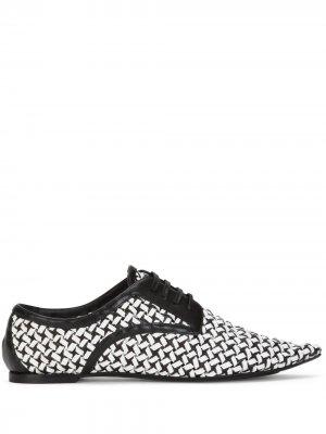Плетеные дерби Bellucci Dolce & Gabbana. Цвет: черный