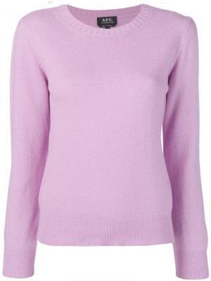 Базовый джемпер A.P.C.. Цвет: фиолетовый