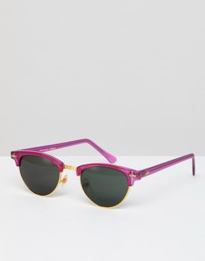 Розовые солнцезащитные очки в стиле ретро Inspired эксклюзивно для ASOS Reclaimed Vintage. Цвет: розовый