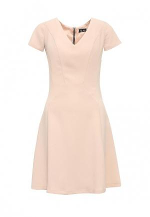 Платье Sinequanone. Цвет: бежевый