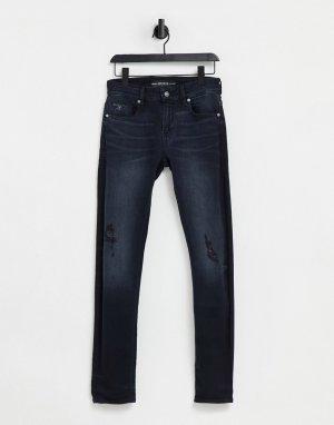 Зауженные джинсы цвета выбеленного индиго -Голубой Guess