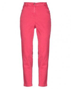 Джинсовые брюки CLIPS MORE. Цвет: фуксия