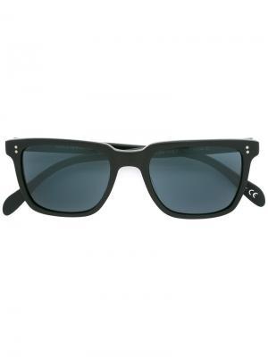 Солнцезащитные очки с квадратной оправой Oliver Peoples. Цвет: черный