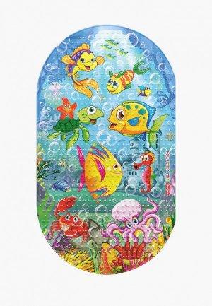 Коврик для ванной Valiant KIDS, 69х39 см. Цвет: разноцветный