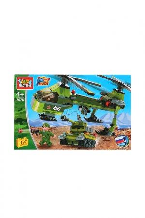 Военный вертолет, 197 деталей Город мастеров. Цвет: зеленый