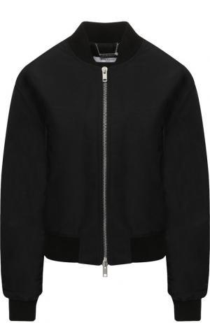 Бомбер с декоративной отделкой на спине Givenchy. Цвет: черный