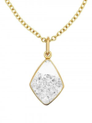 Колье из желтого золота с бриллиантами Moritz Glik. Цвет: золотистый
