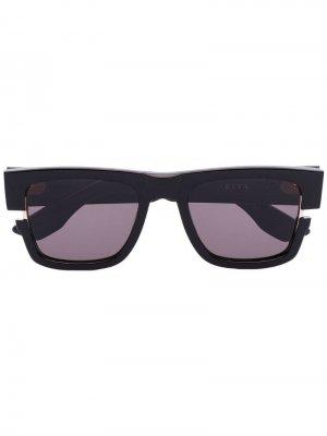 Солнцезащитные очки Sekton в квадратной оправе Dita Eyewear. Цвет: черный