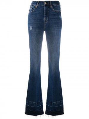 Расклешенные джинсы средней посадки 7 For All Mankind. Цвет: синий