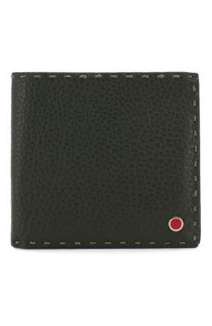 Кожаное портмоне Kiton. Цвет: зелёный
