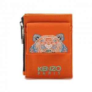 Текстильный футляр для кредитных карт Kenzo. Цвет: оранжевый