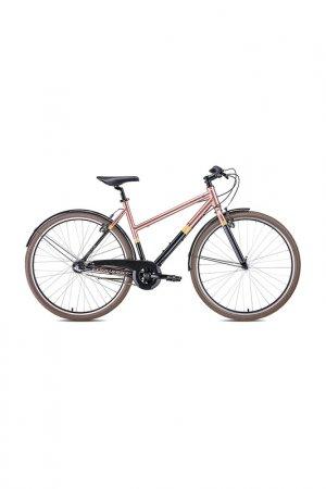 Велосипед Corisca 28 2020 Forward. Цвет: черный, коричневый