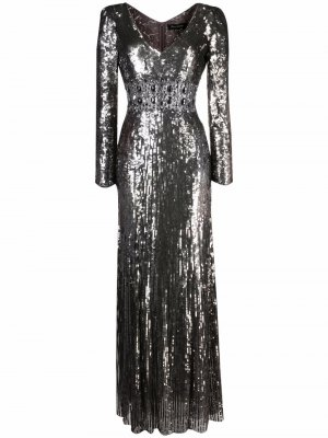 Платье Lexie с пайетками Jenny Packham. Цвет: нейтральные цвета