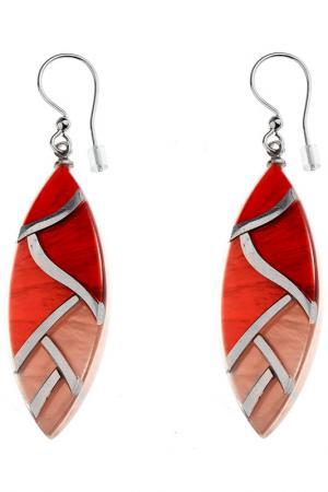 Серьги Culture Mix. Цвет: красный, оранжевый, розовый