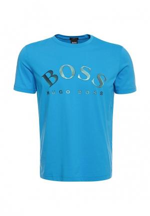 Футболка Boss Hugo BO984EMZKH84. Цвет: голубой
