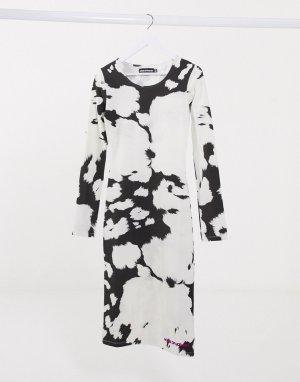 Платье-футболка с принтом тай-дай -Мульти House of Holland