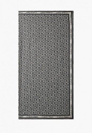 Платок Calvin Klein. Цвет: серый
