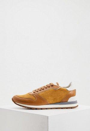 Кроссовки Brunello Cucinelli. Цвет: коричневый